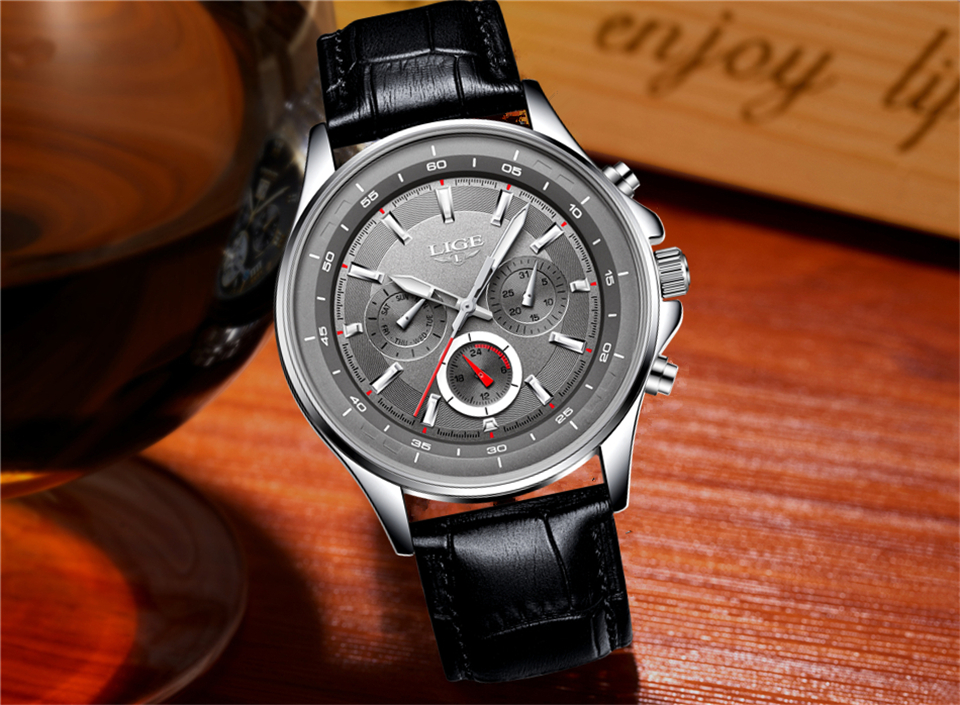 LIGE Mens Watches Waterproof Top Brand Luxury Quartz Watch Men Sport Watch Fashion Casual Military Clock Male Relogio Masculino 27