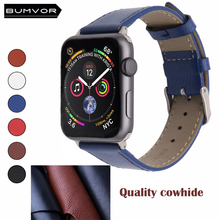 BUMVOR High quality Leather loop for iWatch 4 40mm 44mm Sports Strap Single Tour band Apple watch 42mm 38mm Series 1&2&3