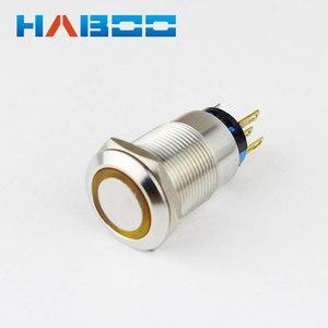 10 шт./лот IP67 2NO + 2NC моментальная Перезагрузка освещенная светодиодная подсветка из нержавеющей стали металлический кнопочный переключатель...