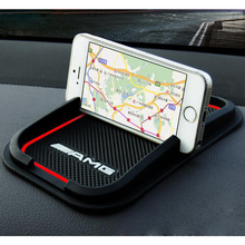 Car accessories Anti Slip pad Rubber GPS Shelf Phone Mat For Audi sline Benz Amg BMW M Car styling