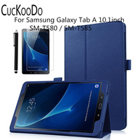 Multi Angle For View And Folding Stand Leather Case Cover For Samsung Galaxy Tab A 10