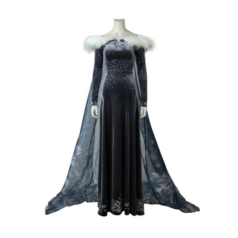 2018 adult Snow Queen Princess Elsa Cosplay costume Elsa dress Halloween costumes for women party Dresses