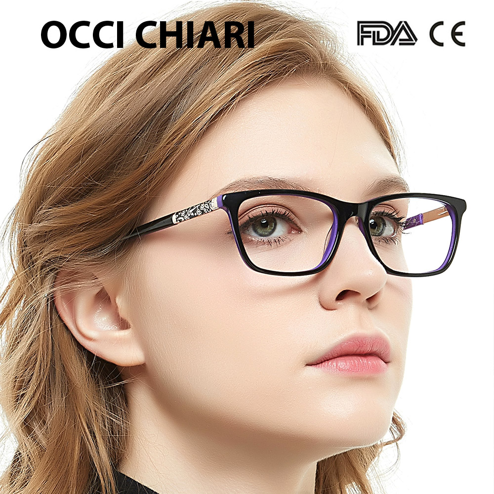 Image 2 - OCCI CHIARI Eye Glasses Frames For Women Designer Brand High Quality Retro Metal Medical Acetate Vintage Eyewear W CERIANA-in Women's Eyewear Frames from Apparel Accessories