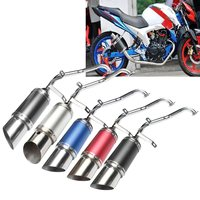 Carbon Fiber Performance Short Exhaust Pipe Muffler For GY6 150cc Chinese Scooter