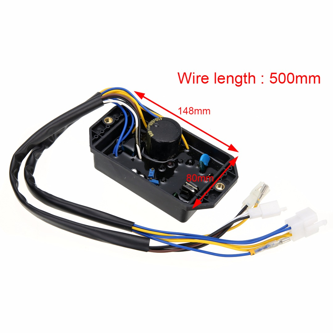 10 Wires GTDK AVR Single Phase for Gasoline Generator Automatic Voltage Stabilizer Rectifier 148*80*30mm Mayitr Generator Parts