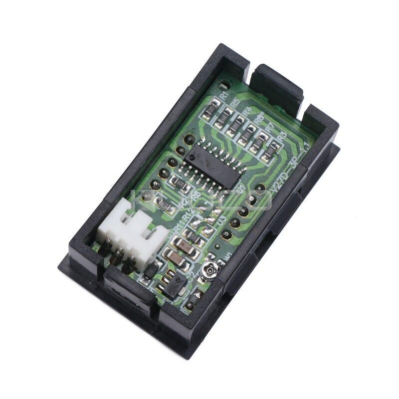 5 шт./лот цифровой вольтметр постоянного тока 0,00~ 9,99 в монитор напряжения/тестер постоянного тока 12 В 24 в вольтметр для двигателя/мотоцикла/автомобиля/батареи