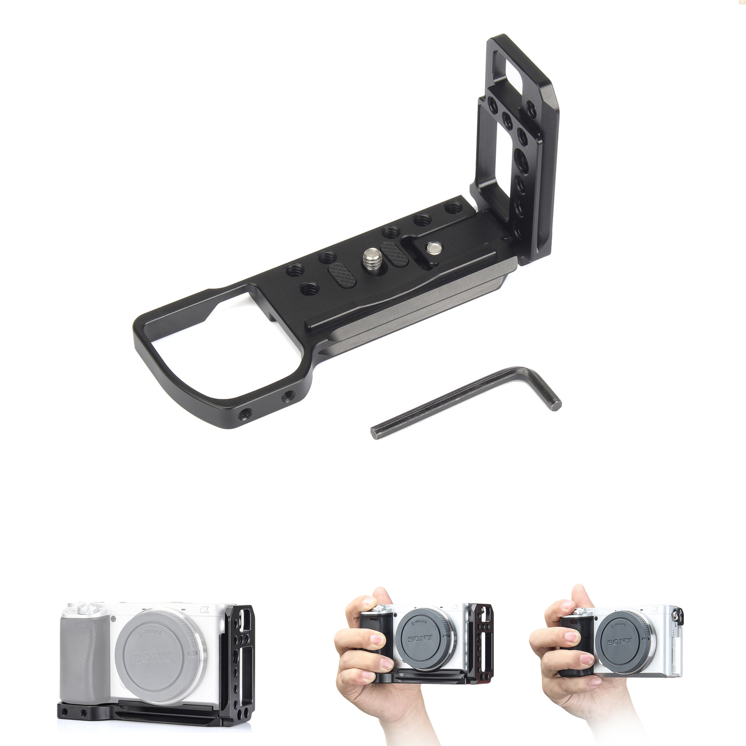 Quick Release Plate EachRig L-Bracket camera cage for Sony a6300,a6400, a6000,with Arca-Type compatible dovetail plate