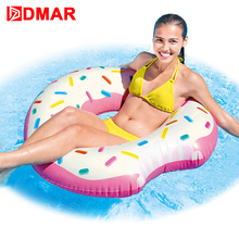 """Doughnut"" Inflatable Swimming Circle Mattress 100cm/39"" Floating Sunbathe Mat Pool Air Pad Buoy Swimming Accessories Party Toys"
