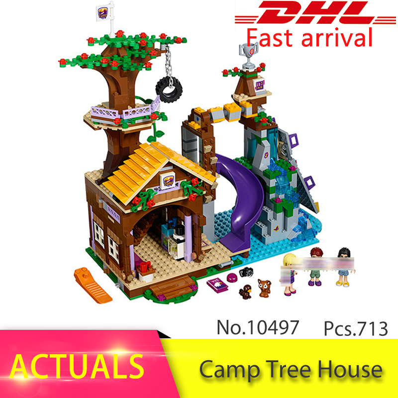 41122  305PCS Compatible Friends Camp Tree House 75902 Building Block Brick Model Educational Toys For Children Gift 10497 diy bela 10497 adventure camp tree house model building kit compatible with legoingly city blocks educational toys for children