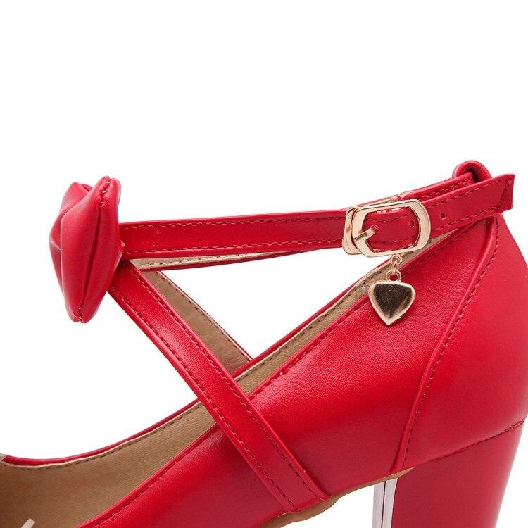 Chaussures blanc Femmes Mode Wathet rose Vente Nouvelle 2018 Simples D'été Arrivent Chaude Haute De rouge Frais Bout Memunia Bowknot Simple Pompes Pointu Talons B04xq8ww