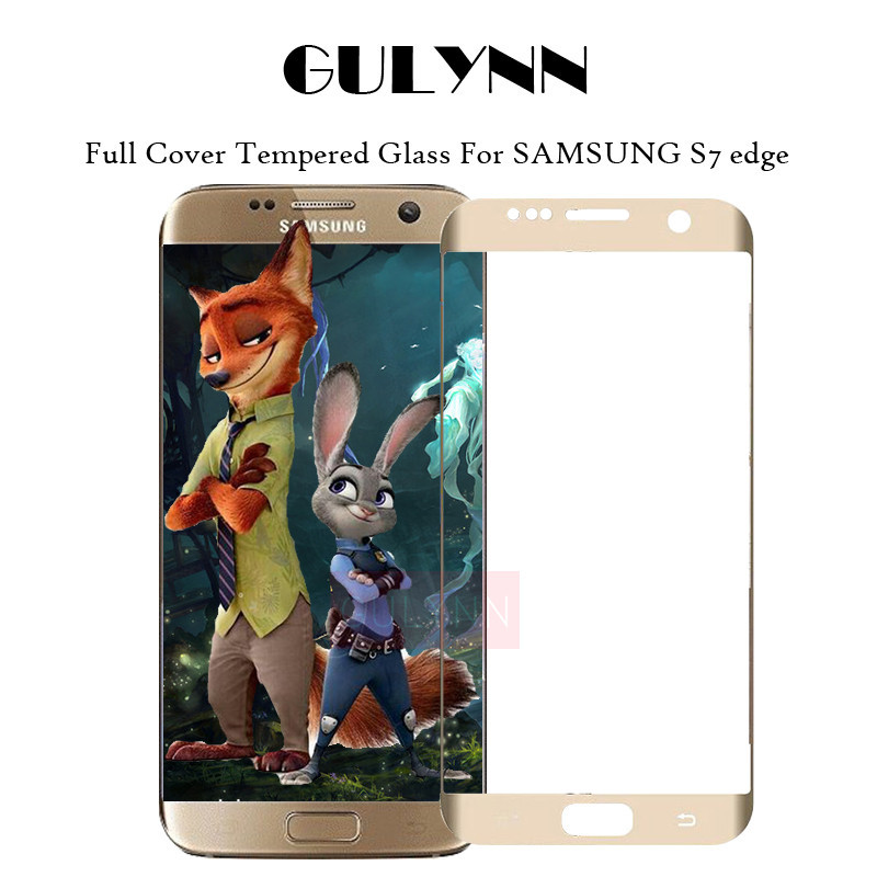 ON SALE ! 3D Curved Edge Design Full cover Tempered Glass Screen Protector For Samsung Galaxy S7 edge Protective Glass film