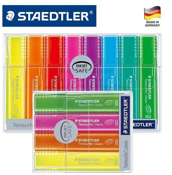 STAEDTLER 364 WP4 4 color Highlighters set With marker pen paints material office school 4pcs/set шкатулка swiss kubik sk01 fa002 wp