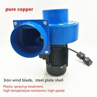 750W high pressure hot air resistant to elevated temperatures centrifugal blower fan Outlet 110cm support 24 hour operation