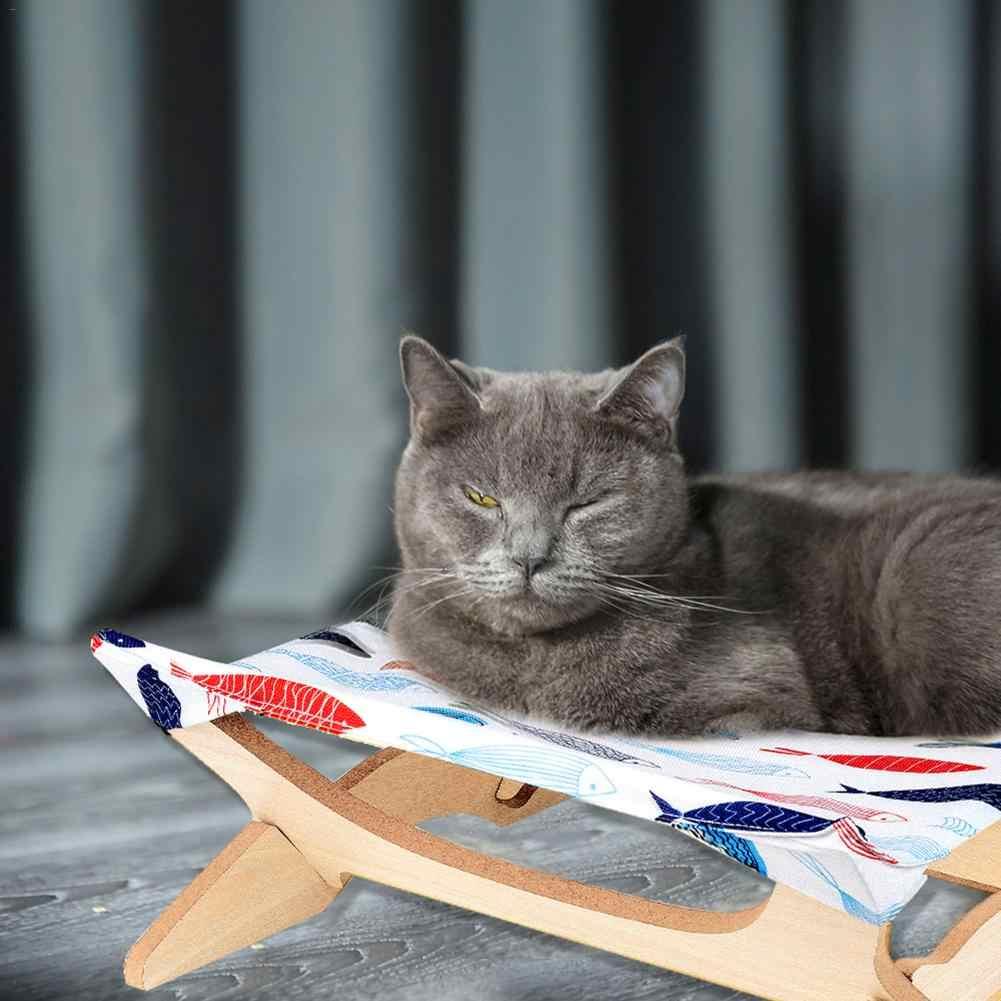 חדש חם כיכר חתול מיטת חיקוי פשתן עץ להסרה חתול המלטת יפני סגנון חתול ערסל ספה לחיות מחמד חתלתול מוצרים 2019