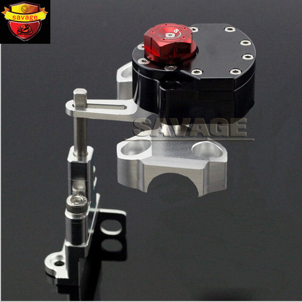 New Black Motorcycle Steering Damper Stabilizer with Mounting Bracket Kit For YAMAHA MT09 MT-09 2014-2016