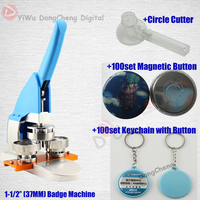 New Pro 1 1/237MM Pin Bouton Making Machine + Circle Cutter+keychain with button+magnetic button+pin button