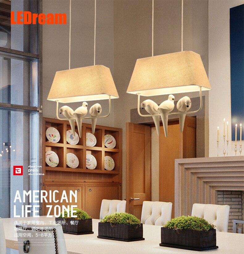 ФОТО Boreal Europe style dining-room lamp droplight Three birds art designer lamp individuality creative study bedroom