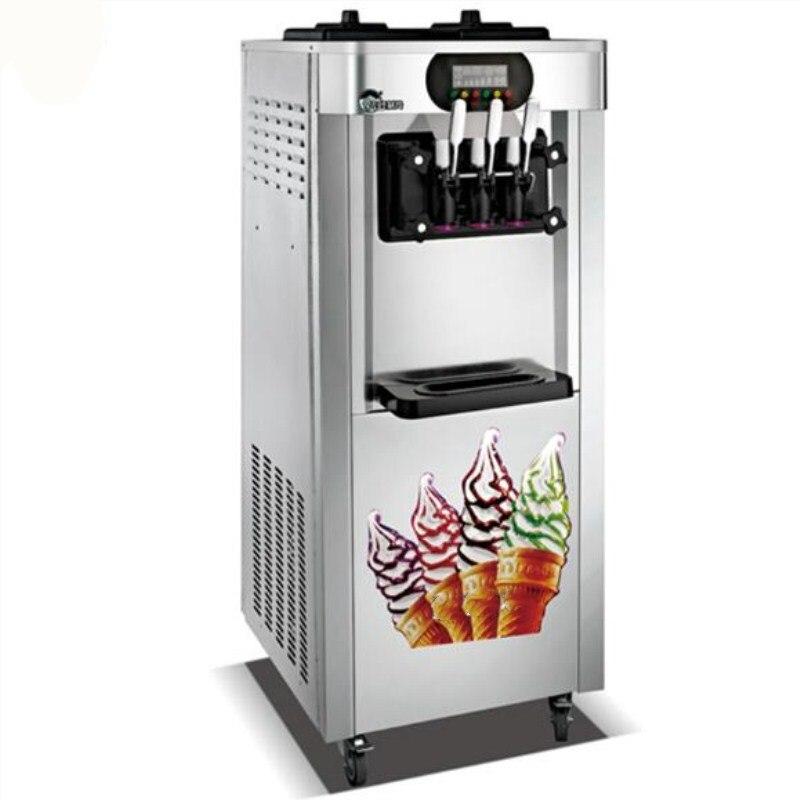 High efficiency 25L soft ice cream maker 3 flavor yogurt ...