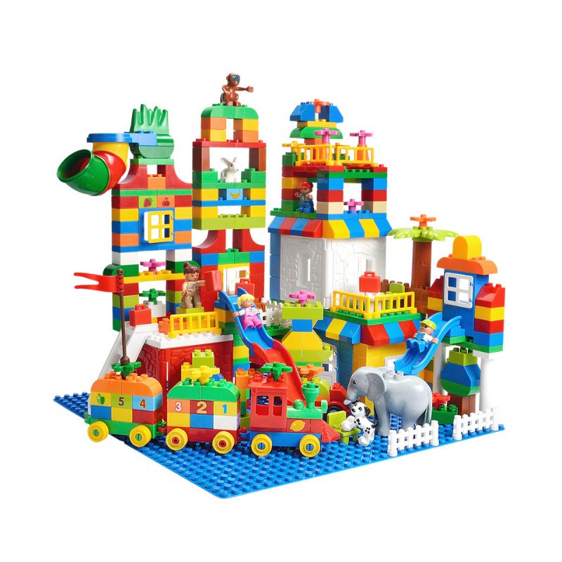2018 Hot Sale 225PCS Big Size Building Blocks Number Train Bricks Birthday Gift DIY Compatible Educational Toy For Children Kids 2017 hot sale forest animals children assembled diy wooden building blocks toys baby toy best gift for children ht2265