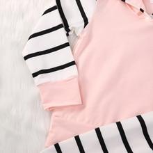 0-2Y Newborn Baby Girls Clothing (Hoodie Tops T-shirt+Cotton Pants)