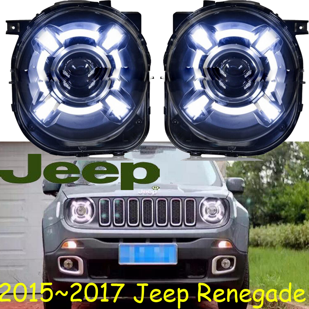 car-styling!Renegade headlight,2015~2017,Free ship!chrome,Renegade fog light,chrome,LED,2ps+2pcs Aozoom Ballast,Compass,Patriot аккумуляторная отвертка patriot ps 148