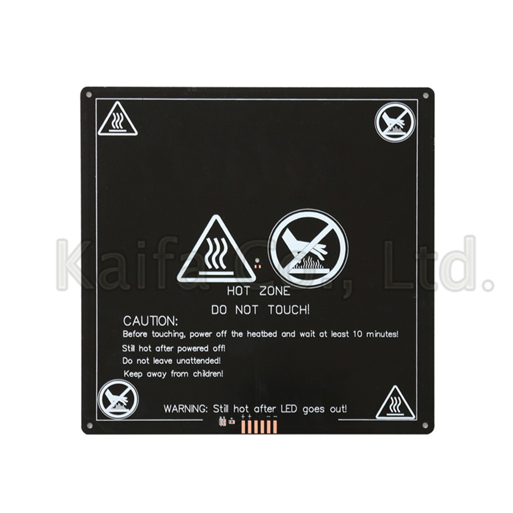 MK3 Heated Bed 12V 24V Black Parts Heatbed Hot HotBed 3D Printers Part Heat 220x220 Aluminum Plate 3mm PCB Accessories mk3 heated bed 12v 24v parts for reprap mendel heatbed hot hotbed 3d printers part heat 214x214mm aluminum plate 3mm accessories