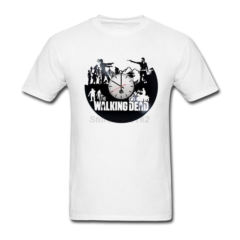 T-shirt design handmade - Nice Men The Walking Dead Handmade Clock T Shirts High Quality Tee Original Design Cool