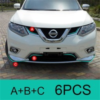ABAIWAI Car Stying For Nissan X Trail T32 Head Stickers Trim Cover Chrome Special Decorative Accessory X Trail 2014 2015 2016