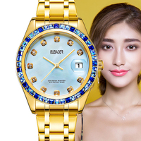 OUBAOER Luxury Brand Women Bracelet Watch Women Fashion Dress Wristwatch Waterproof XFCS Ladies Quartz Watch Montre Femme 2019