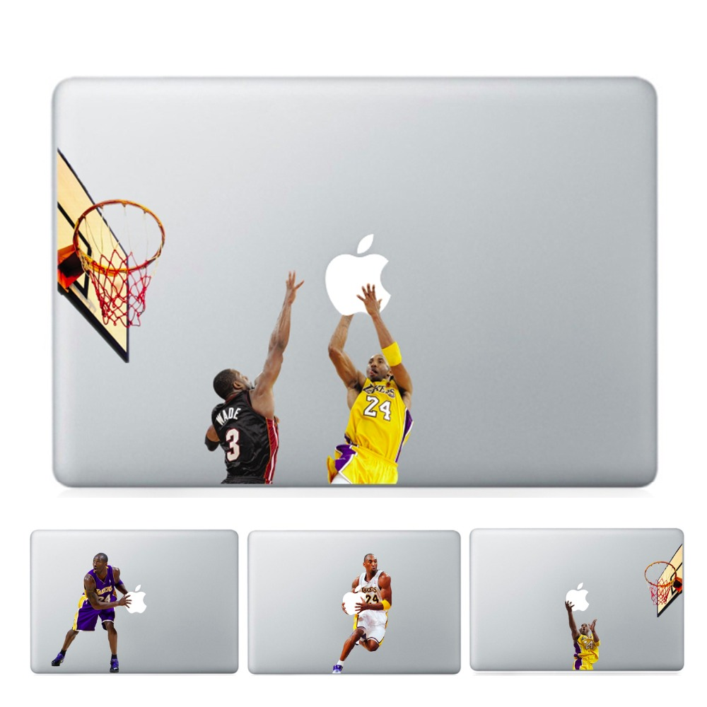 YCSTICKER - Laptop Vinyl Partial Decal DIY Personality Sticker City Basketball Player Skin For Macbook Air Pro Retina Touch Bar