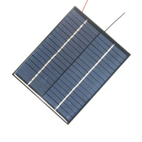 BUHESHUI 2W 18V Polycrystalline Solar Panel Solar Cell Module+Cable Wire DIY Solar Charger For 12V Battery Epoxy Wholesale 10pcs