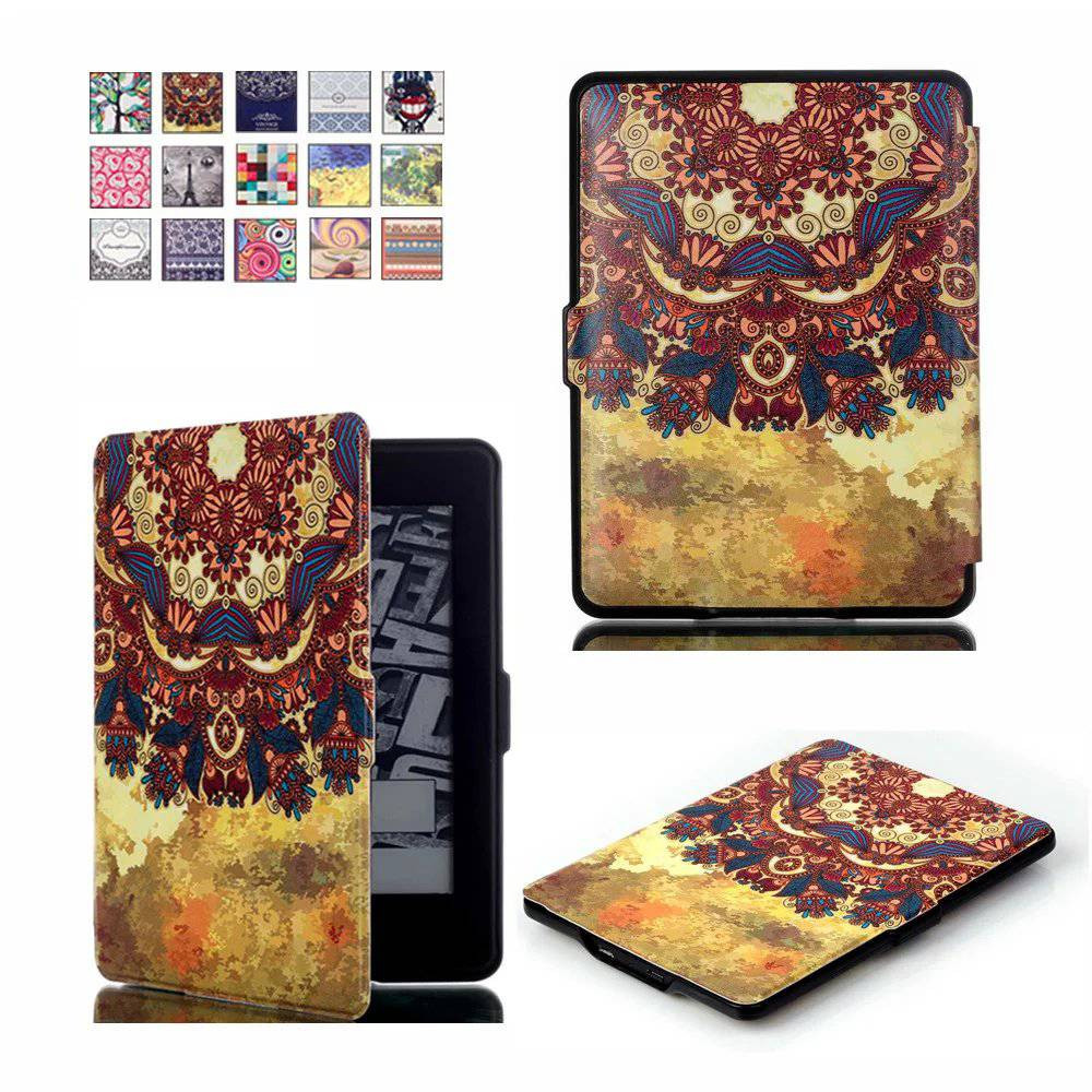 For Amazon Kindle Paperwhite Case Skin Lighted Slim Leather Sleep/Wake Cover for Kindle Paperwhite1 2 3 2015 6th generation new cover for amazon kindle paperwhite slim pu flip leather case cover wake sleep function with pen high quality
