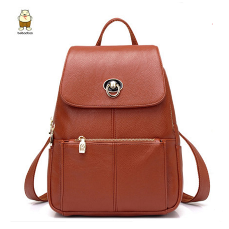 New Brand teenage backpacks for girl PU leather Backpack Travel Bag Women Large Capacity brand Bags For Girls Mochila kajie pu skin leather large capacity student fashion women backpacks for teenage girls sac a dos travel feminine bag mochila