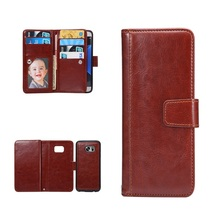 Silicone 2 in1 Multifunction Magnetic Detachable Wallet Leather Removable Phone Case For Samsung galaxy S7 S6 Edge Card Holder