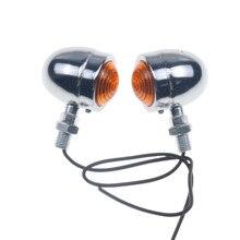 2 шт. Мотоцикл Мини Пуля поворотники Лампа Mark lihgt индикатор крейсер Чоппер кафе гонщик Rat пользовательские CB