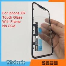 شاشة LCD تعمل باللمس محول الأرقام لوحة زجاجية آيفون XR 11 مع الإطار لا OCA