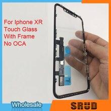 ЖК сенсорный экран дигитайзер стеклянная панель для iPhone XR 11 с рамкой без OCA