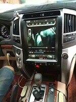 12.1 Inch Tesla Style 2 Din Car Radio GPS Navigation Android 6.0 Car GPS Navigation DVD Player for LAND CRUISER LC200 2008 2015