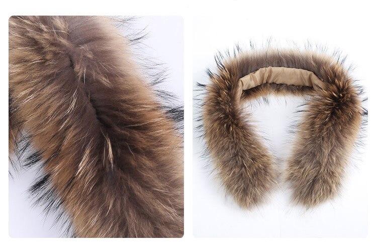 natural raccoon fur hoody trim collar (6)