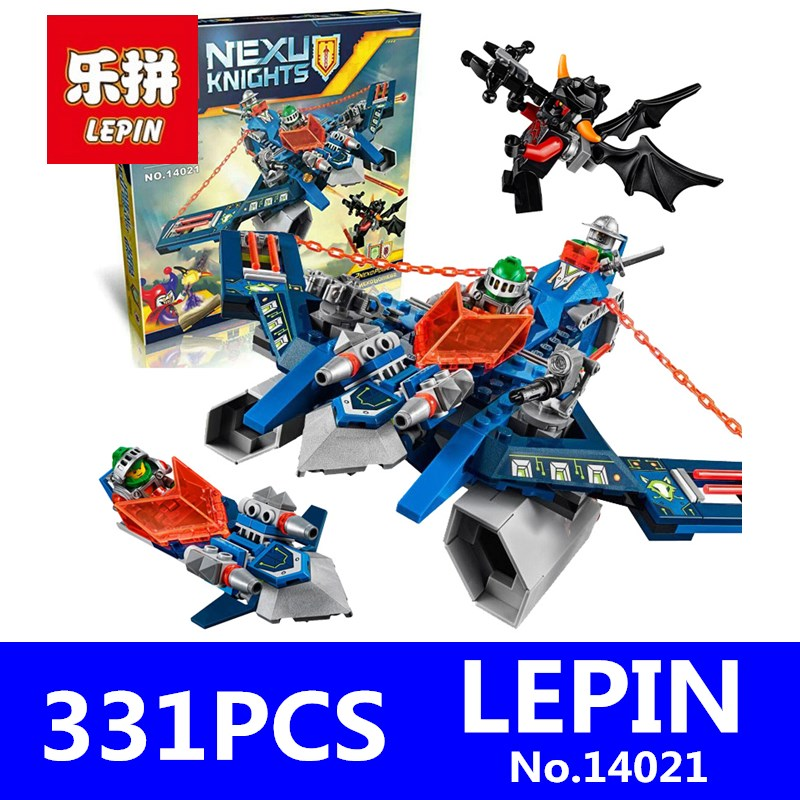Nexus Knights Figures Aaron Fox's Aero-Striker Building Bricks LEPIN 14021 331Pcs Compatible 70320 Blocks Toys For Children Gift new original kyocera 302hn94140 solenoid toner for fs 1060 1025 1125 p1025 m1025