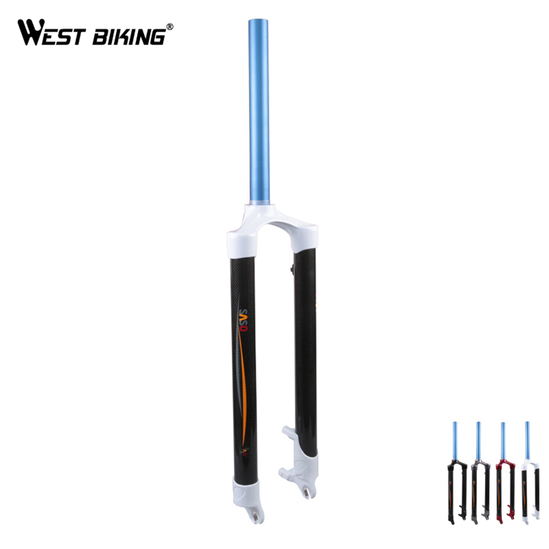 WEST BIKING Bicicletas Bike 26 inch Non-suspension Carbon Fork Lock Dis Brake Fork Bike Equipment Cycling Bike Hard Fork west biking indoor cycling exercise station profession bike trainer physical training for long distance match 26 to 28 inch