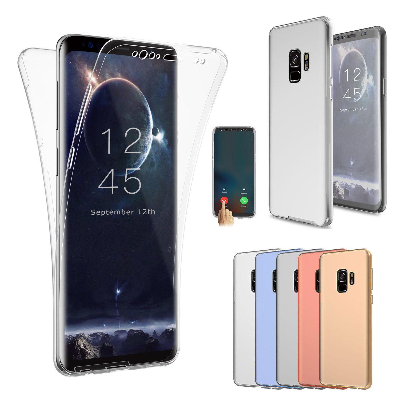 Ультра тонкий 360 градусов полный защитный спереди и сзади все чехол силиконовый Гель для Кожи Для Samsung Galaxy S9 /S9 + plus
