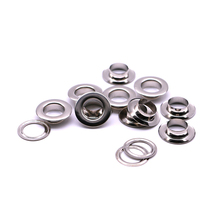 20 компл./упак.(наружный диаметр): 21 мм(внутренний) 12 мм(высота) 6 мм кнопка ушко металлические люверсы Q-04