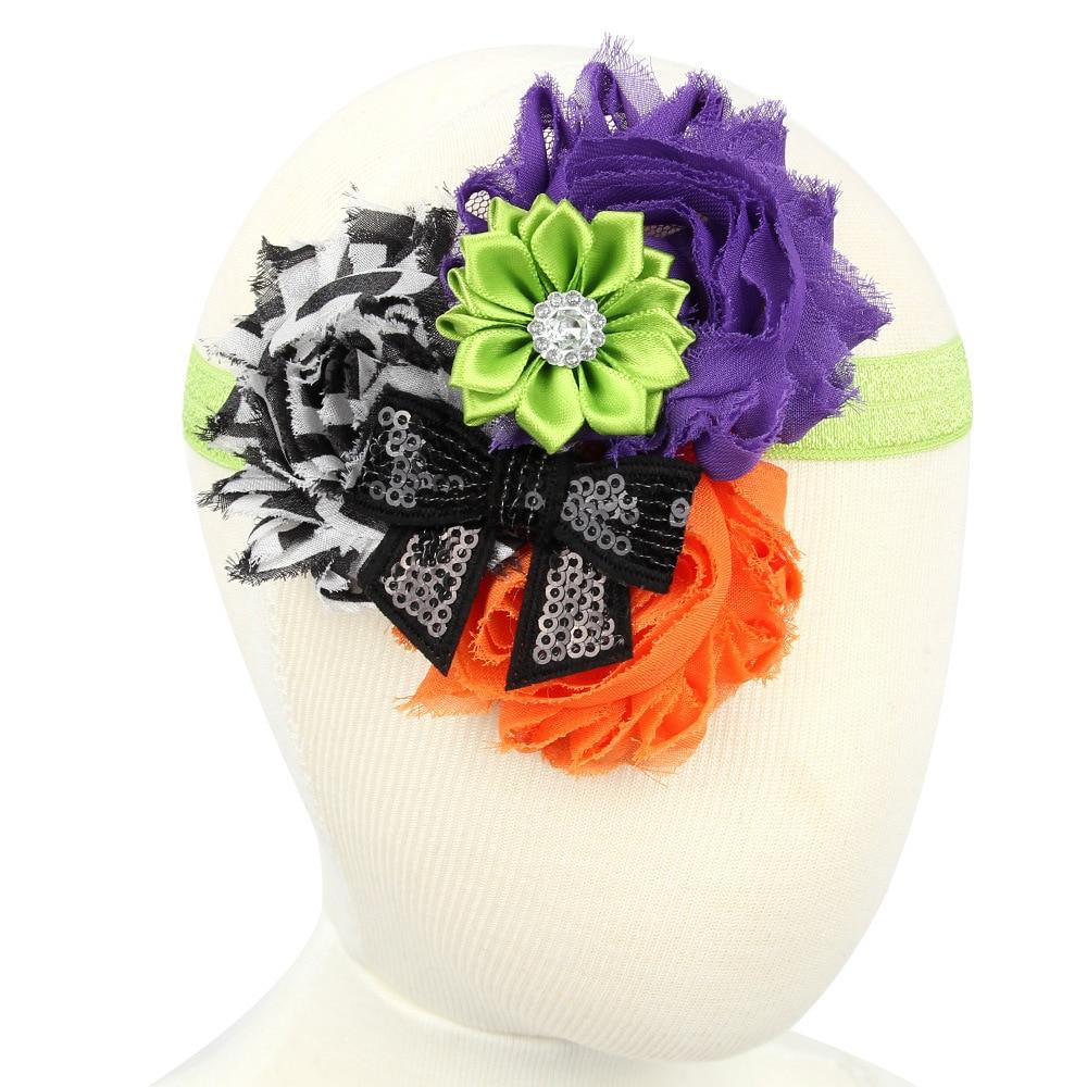 20pcs/lot cloth flower halloween hair headbands for hair sunflower