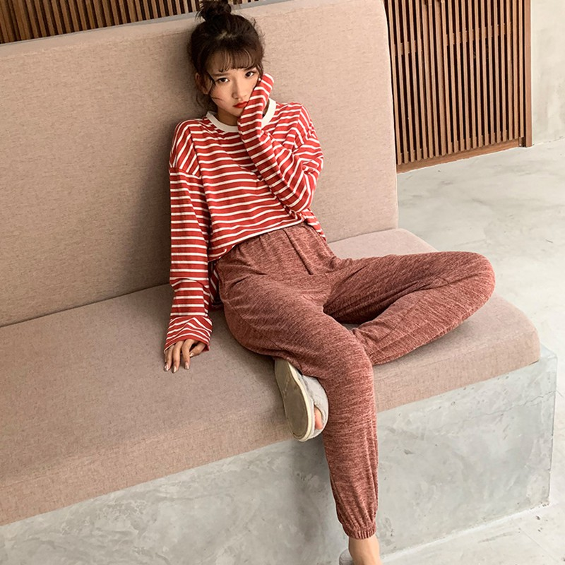 Loose High Waist Harem   Pants   Ankle-Length   Pants   For Lady Solid Color Elastic Casual Women Trousers Women Ankle- length   Capris