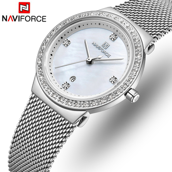 NAVIFORCE 5005 Luxury Women Watches Female Fashion Quartz Calendar Watch Ladies Simple Waterproof Wrist Watches with box