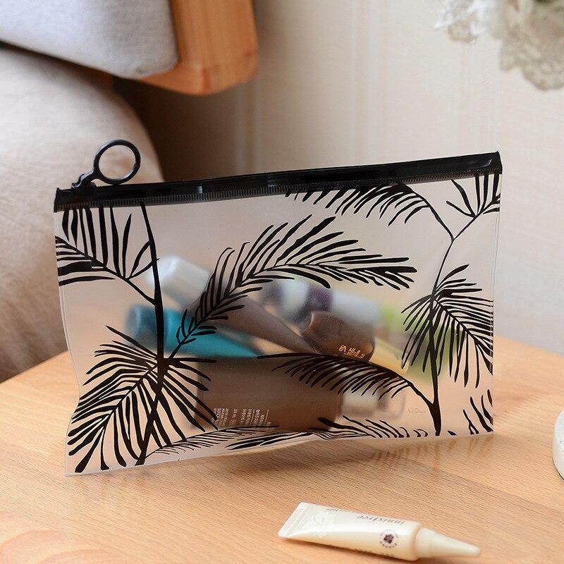 Clear Transparent Cosmetic Bags PVC Toiletry Bags Travel Organizer Beauty Case Handbag Bath Wash Make Up Box For Organization