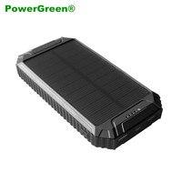 PowerGreen Flood Light Design Solar Mobile Phone Charger 10000mAh Mini Solar Panel Battery for Cell Phone
