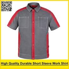 High quality Men's short sleeve polo shirt polycotton workwear shirt  work shirt engineer uniform jacket polo shirt