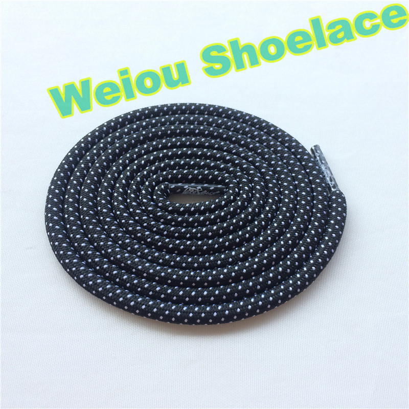 Hot Weiou New design hiking walking boot laces two tone rope laces custom logo shoelaces for